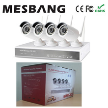 fast  free shipping cctv camera system wireless 960P 1.3MP  NVR 4ch kits  no need cable easy to install