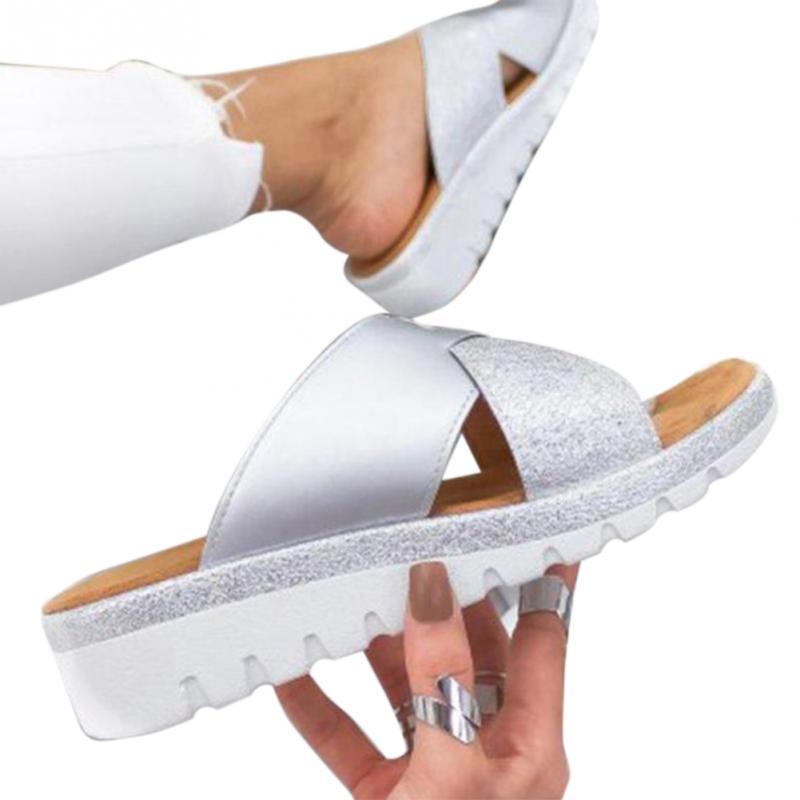 Frauen Pu Leder Schuhe Bequeme Plattform Flache Sohle Damen Casual Weiche Big Toe Fuß Korrektur Sandale Orthopädische Bunion Corrector Mit Dem Besten Service Fitness & Bodybuilding