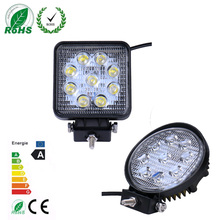 10pc 27w Car LED Light Offroad Work Light Bar for Jeep 4x4 4WD AWD Suv ATV Golf Cart 12v 24v Fog Light LED lamp car round/square(China)