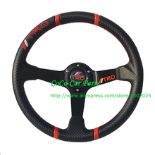 350mm PVC TRD Steering Wheel Universal Carbon Fiber Steering Wheel
