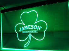 LE215- Jameson Whiskey Shamrock LED Neon Light Sign