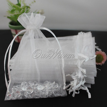 100pcs/lot Organza Candy Bag Wedding Favors and Gifts Box 10*15cm Strong Sheer Organza Pouch Wedding Candy Box Party Supplies