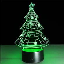 latest trade 2076 Christmas gifts 3D Night light creative colorful LED lamp night lamp christmas tree decorations lighting