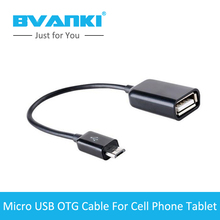 [Bvanki OTG]50Pcs/Lot low price china mobile mini Micro USB 2.0 OTG Converter Camera Tablet MP3 OTG Cable Adapter for Samsung