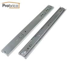 "Probrico 1 Pair 18"" Soft Close Ball Bearing Drawer Rail Heavy Duty Rear/Side Mount Kitchen Furniture Drawer Slide DSHH32-18A"