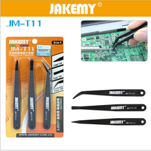 JAKEMY 5sets T11 Anti-static Plastic Tweezer Heat Resistant Repair Tool Kit For iPhone Smartphone Tablets Electronic Components