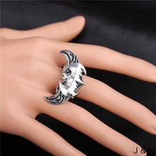 New Arrived Rotatable Batman Symbol RingsHot Movie  Angel Wings Zinc Alloy ring Charm High Quality Men Jewelry