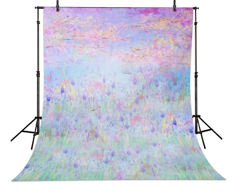 Bokeh Purple Lavender Flowers Forest Garden backdrops High-grade Vinyl cloth Computer printed newborns Backgrounds<br><br>Aliexpress