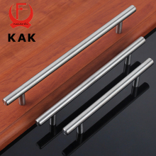 "KAK 4"" ~ 24'' Stainless Steel Handles Diameter 10mm Kitchen Door Cabinet T Bar Straight Handle Pull Knobs Furniture Hardware(China)"