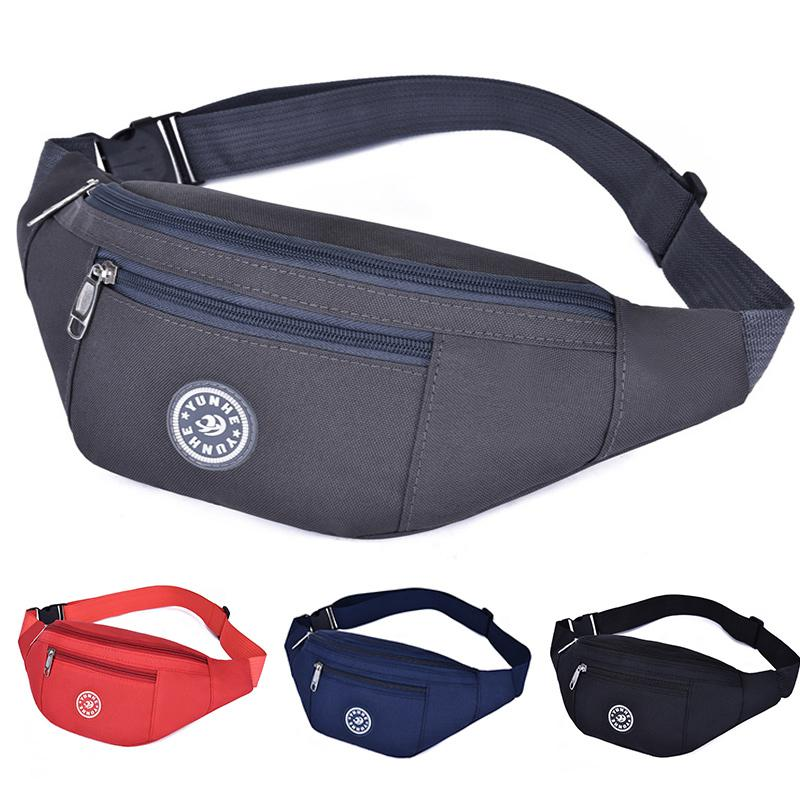 Men Waterproof Nylon Belt Bags Waist Chest  Hip Fanny Pack Sports Travel Strap