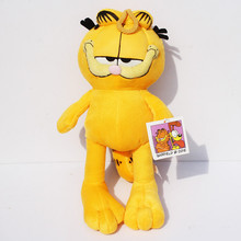 30cm Lovely Movie Cartoon Garfield Cat Soft Stuffed Plush Toys Doll(China)