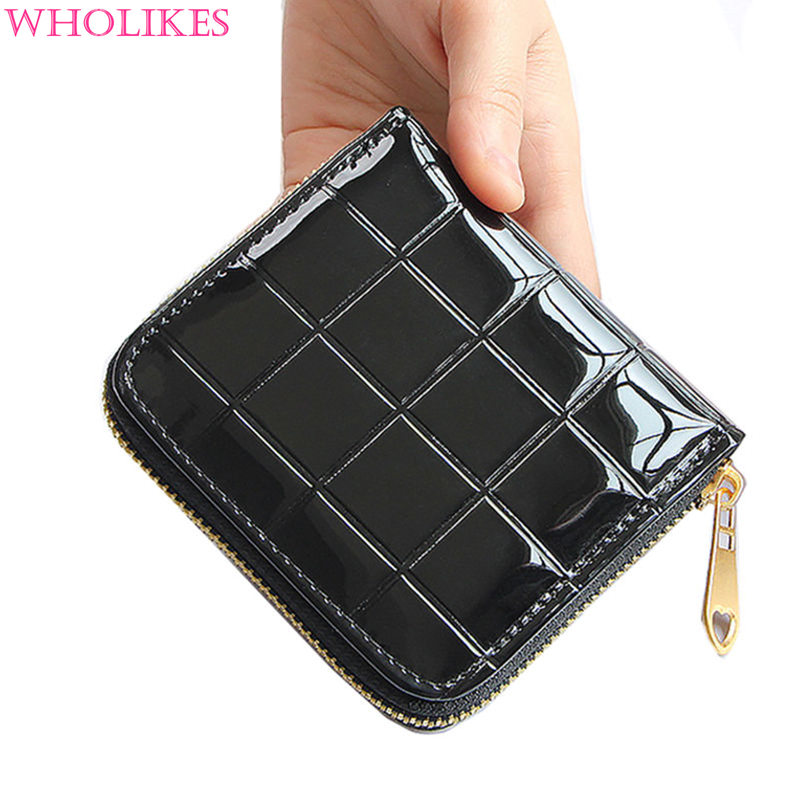 Fashion Women Black Short Wallets Ladies Leather Designer Wallet Girl Clutch MINI Purse Zipper Pure Color PU Wallet Holders<br><br>Aliexpress
