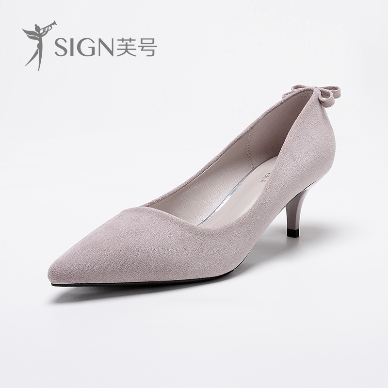 SIGN 2017 Bow Tie Kitten Heel Women Pumps Cystal Dress High Heels Butterfly Valentine Shoes Pointed Toe Stiletto Sapato Feminino<br>