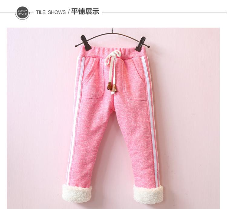 Thick Korean version of the children s clothing warm color cotton casual pants thickening baby children trousers winter<br><br>Aliexpress