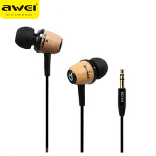 Original AWEI Q9 Supper Bass Universal Earphone No Mic Mobile Mp3 Headphones 50PCS/lot(China)