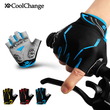 CoolChange Cycling Gloves Half Finger Mens Women's Summer Sports Shockproof Bike Gloves GEL MTB Bicycle Gloves Guantes Ciclismo(China)