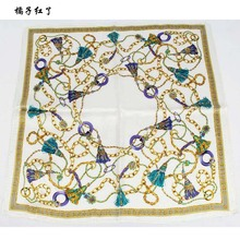The new high-quality women's 100% silk scarves, small square scarves female, fine silk printed scarves, size 55 * 55 cm