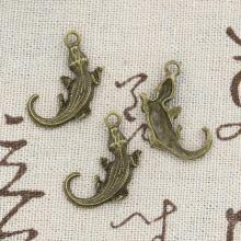 15pcs Charms alligator crocodile 27*17mm handmade Craft pendant  making fit,Vintage Tibetan Bronze,DIY for bracelet necklace