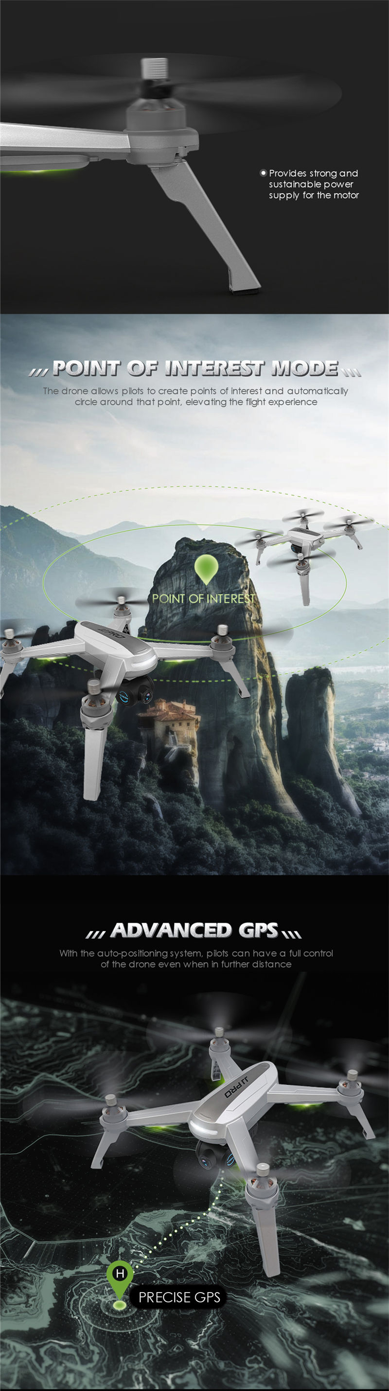 Free Gifts! JJRC JJPRO X5 5G GPS WIFI FPV With 1080P HD Camera Max 18 Mins Follow Me Altitude Hold RC Drone Quadcopter RTF 4