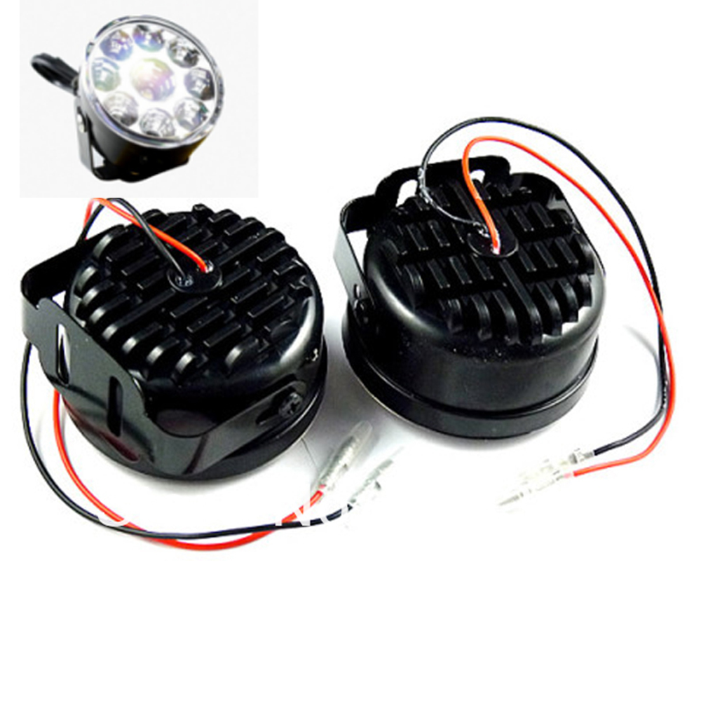 Free Shipping!!! 1Pair(2Pcs) X 9 Led Waterproof White Round Style Led Daytime Running light <br><br>Aliexpress