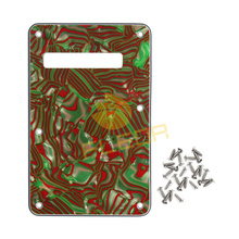 NEW Guitar Backplate 3 Ply Guitar Tremolo Cavity Cover w/Screws Fits FD ST Style Guitar ,Brown/Green Shell(China)