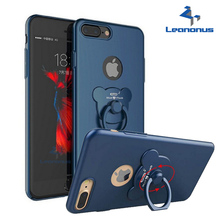 Original Luxury Matte Hard PC Cell Phone Case Finger Ring Stand Case For iPhone 7 7Plus 6 6S Plus Back Cover Phone Holder Bag