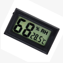 Smart Electronics Black Mini Digital LCD Indoor Temperature Humidity Meter Thermometer Hygrometer Gauge(China)