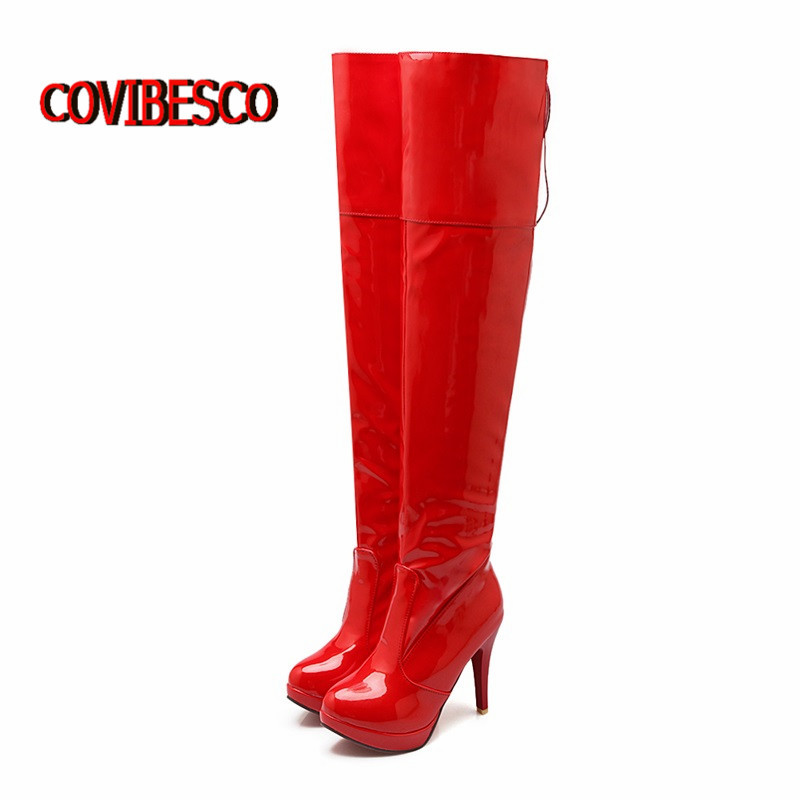 Big size 34-43 Women Over the Knee High Boots Sexy High Heels Round Toe Spring Autumn Shoes Platforms high knight Boots<br><br>Aliexpress