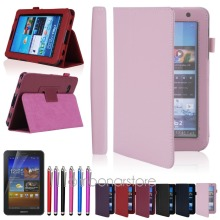 "Folio PU Leather Holder Case Cover Stand For Samsung Galaxy Tab 2 7.0 7\"" Tablet  P3100 Free Stylus Pen+Screen Protector"