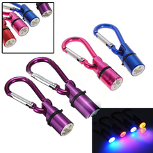 Free Shipping  Aluminum Dog Cat Pet Safety Flashing LED Collar Tag Waterproof #6443
