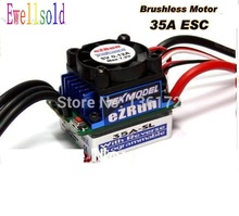 Ewellsold 1/10 RC car accessories EZRUN 35A Brushless ESC free shipping(China)