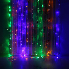 Xmas 3Mx2M 224LED Window Curtain Plastic Lights String Fairy Lamp Wedding Party Decor Light Strip Enfeites Para Casa 2018 New@GH(China)