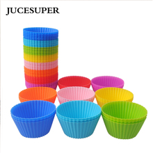 JUCESUPER 5PCS/SET Round Shape Silicone Mold Cake Decorating Tools Baking Mold Bakeware Maker Mold Kitchen Accessories