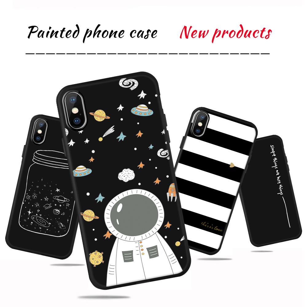 Silicone Cover Couple Case For iPhone X XR XS 6 6S 7 8 Plus 5 5S SE Lover Plant Pattern Phone Cases Back Shell For iPhone XS Max