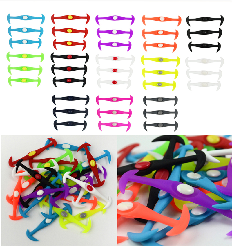12pcslot Round No Tie Shoelaces Elastic Silicone Shoe Lace Multicolor Design Unisex Women Athletic Running For Shoes (24)