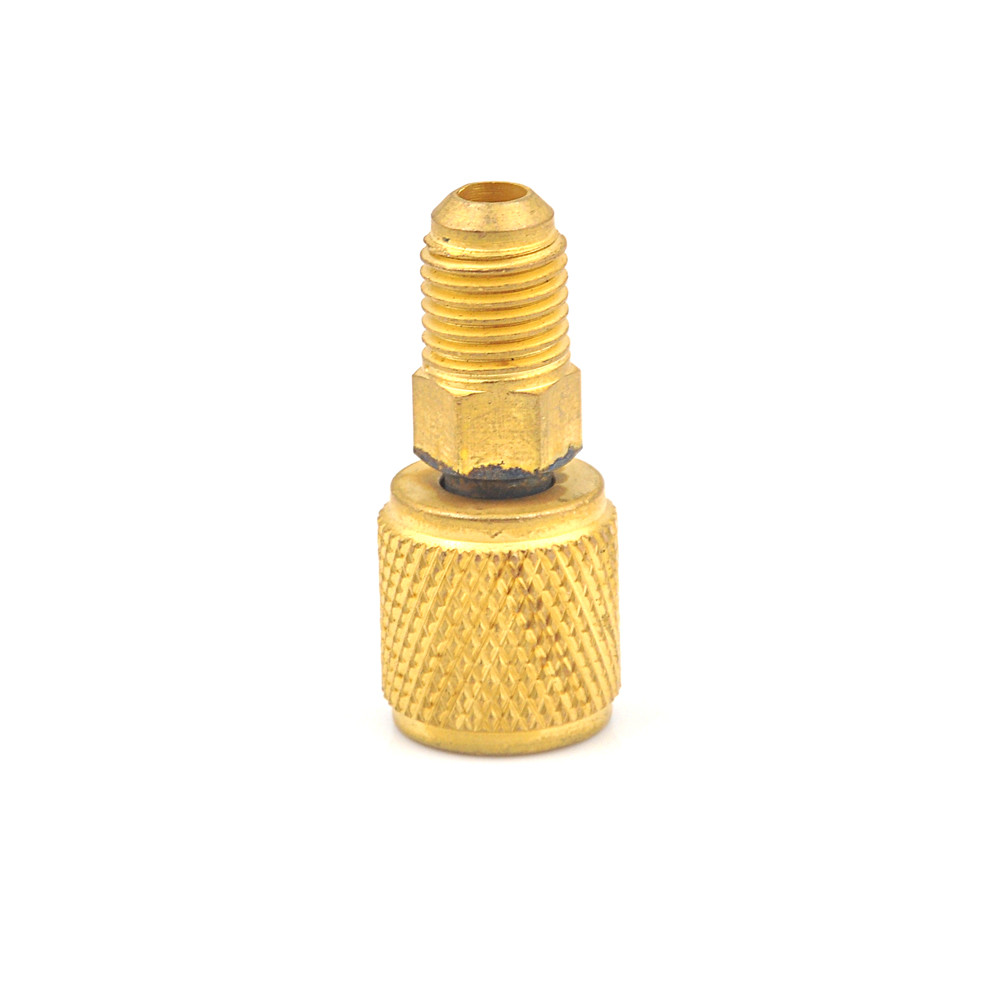 """1PC Brass Air Conditioners Adapters R410a Adapter Fitting 1/4"""" Male To 5/16"""" SAE Female Charging Hose To Vacuum Pump Accessories"""