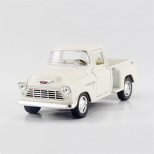 Pickup trucks 1955 3100 White 1/32 alloy models model car Pickup Diecast Metal Pull Back Car Toy For Gift Collection