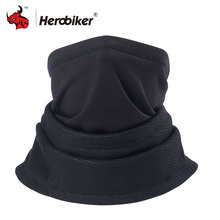 HEROBIKER Motorcycle Face Mask Winter Thermal Fleece Balaclava Hat Hood Bike Wind Stopper Face Mask Men Fleece Neck Moto Mask(China)