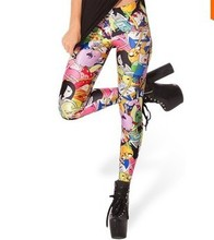 2014 Women Sexy vintage Egypt Pharaoh King Tut Cheshire Cat Mechanical Bones White Black Aurora Skye  Leggings HOT Sale   KA 123