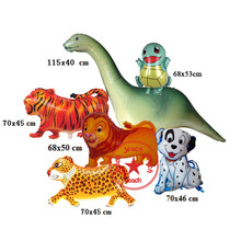 animal shaped balloons jungle party animals airwalker birthday party supplies leopard tortoise lion dog tiger dinosaur balloons(China)
