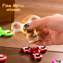 Buy Hot Tri-Spinner Fidget Toy Metal Stress EDC Anti Stress Finger Hand Spinner Child Adult Multicolor Toys Gift Autism Spiner for $2.45 in AliExpress store