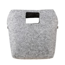 New design felt bag fabric handbag shopping bags woman Casual Totes laptop bags Gray&Burgundy hobo Polyester women bags as gifts(China)