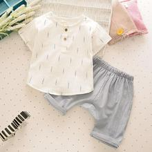 Buy 2017 New Cool Summer Children Boys Clothes Set Kids Short T-shirt Pants Linen Breathable Comfortable Branches Boys Clothing Suit for $8.58 in AliExpress store