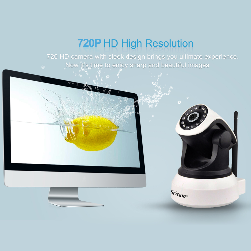 Sricam HD Wireless Security IP Camera Wifi Wi-fi Night Vision Audio Recording Surveillance Network Baby Monitor For iOS/Android<br><br>Aliexpress