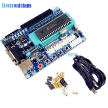 1Set USB PIC Development Board PIC16F877A 12V DC JTAG Minimum System Microcontroller Module MAX3232 ISP IO ICSP Program Emulator