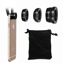 NYFundas Clip 180 Degree Fish Eye Lens Kit for iPhone 6 7 6S plus 5 Huawei P8 lite P9 Xiaomi Redmi 4 Pro 3S  3 Phone Accessories