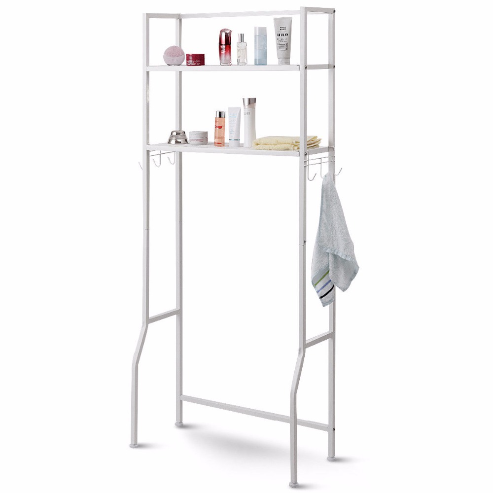Giantex 2 Tire Space Saver Storage Rack Over Washing Machine Laundry Toilet Bathroom Modern furniture HW57751 7