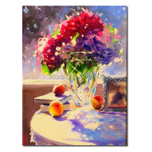 still life rose flower in the vase oil painting still life oil painting , rose and lemons oil painting for wall decor