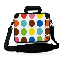 "Colorful Polka Dot Computer Messenger Pouch Tote Case 13.3"" 14"" 13"" 11.6""  15.4"" 15.6"" Laptop Shoulder Bag For HP DELL SAMSUNG"