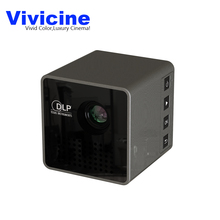 2017 New Arrival Vivicine P1 Handheld Mini LED Projector Beamer,Built-in Battery Pico Home Theater Video Game Proyector(China)